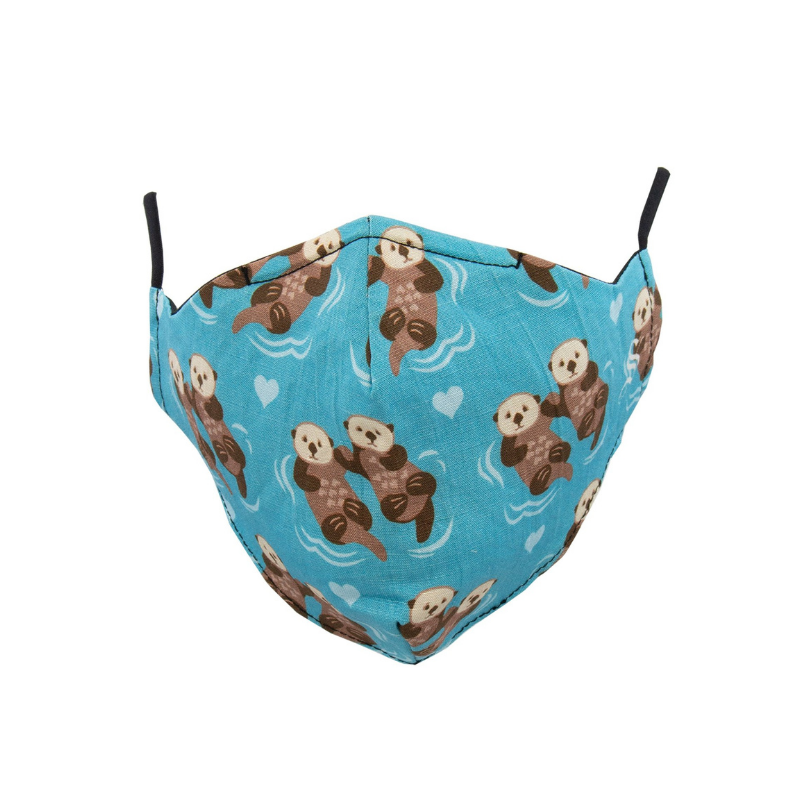 Socksmith | Face Mask Significant Otter - Bright Blue | Shut the Front Door