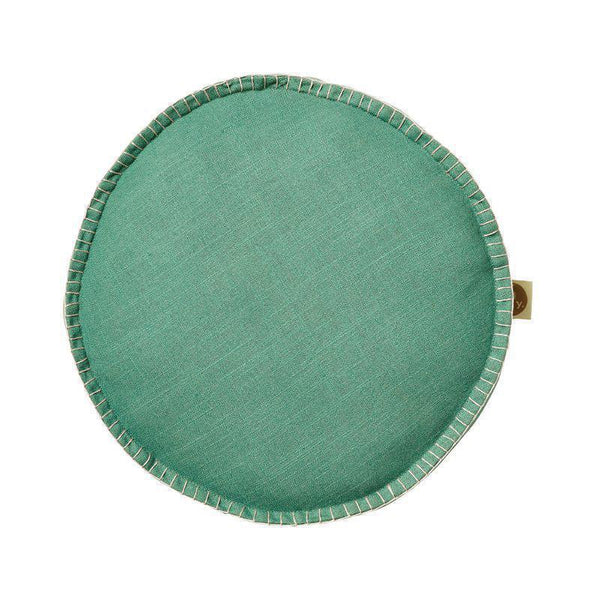 SAGE & CLARE | Rylie Round Cushion Eucalyptus | Shut the Front Door