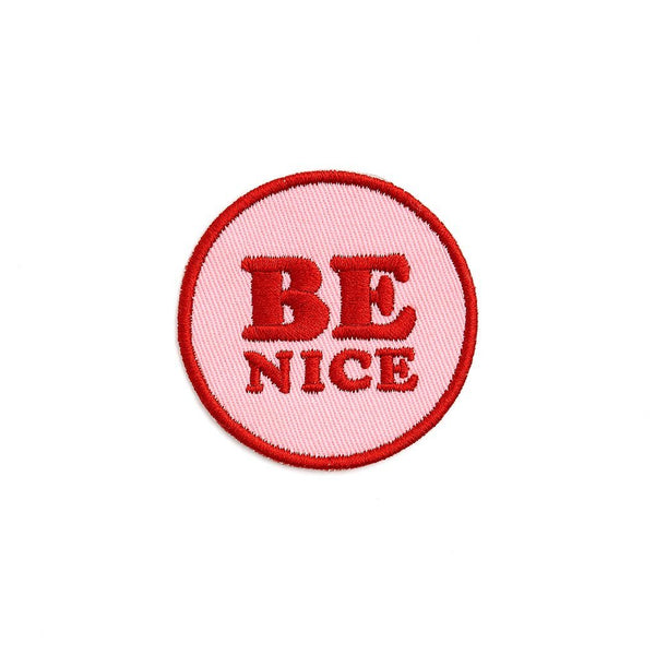 ban.do | Iron-On Be Nice Patch *PREORDER* | Shut the Front Door