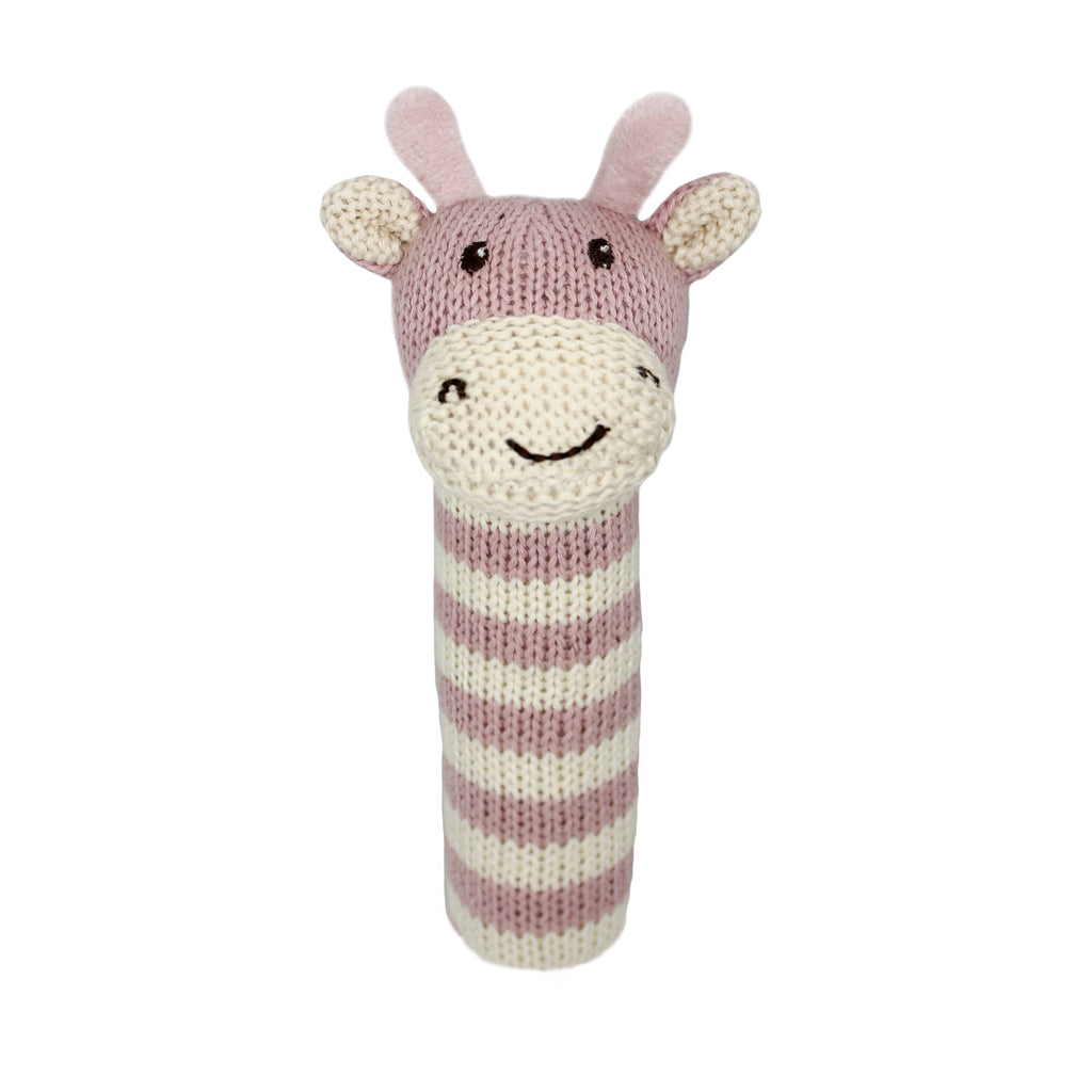 Lily and George | Ellie Stripey Giraffe Stick Rattle | Shut the Front Door
