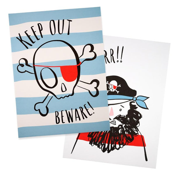 Meri Meri | Art Prints - Pirates Set 2 | Shut the Front Door