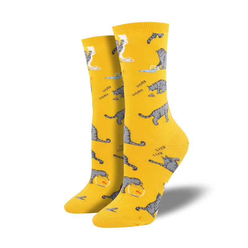 Socksmith | Women's Cativities Socks - Gold | Shut the Front Door
