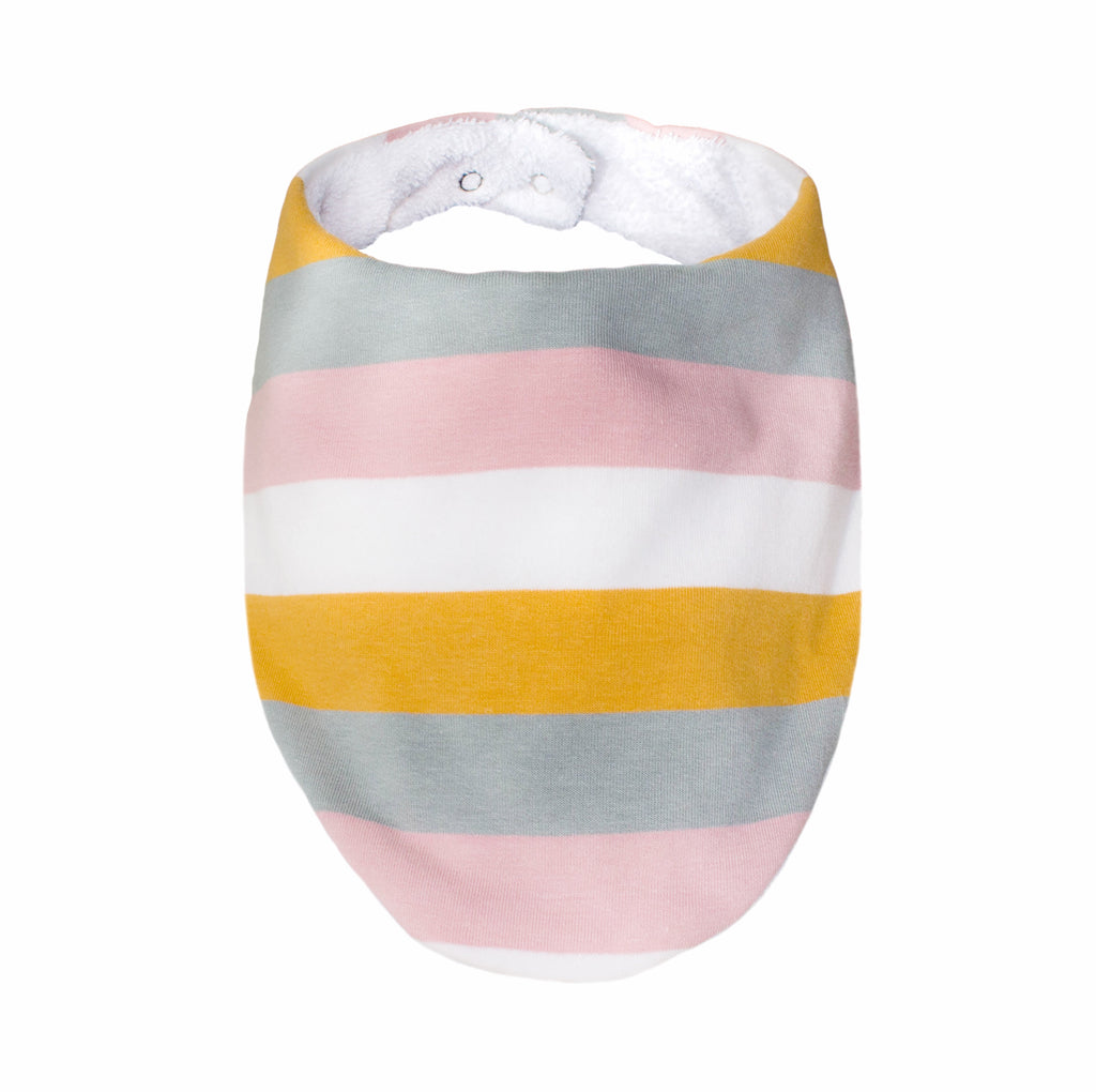 Lily and George | Pastel Rainbow Stripe Bib | Shut the Front Door