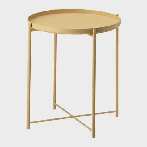 IKEA | Gladom Tray Table - Mustard | Shut the Front Door
