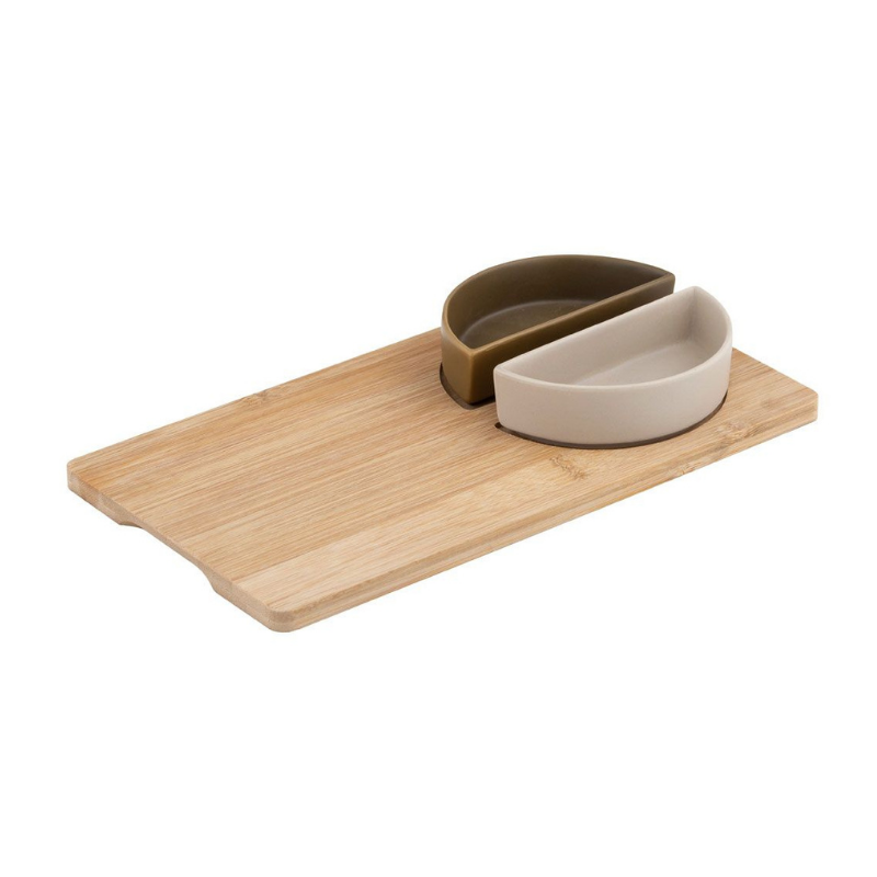 Davis & Waddell | Amora Bowls on Bamboo Tray | Shut the Front Door