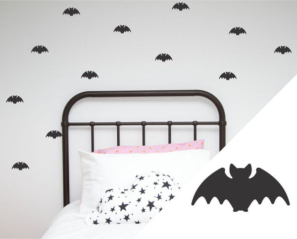 100PercentHeart | Wall Stickers Bats Black | Shut the Front Door