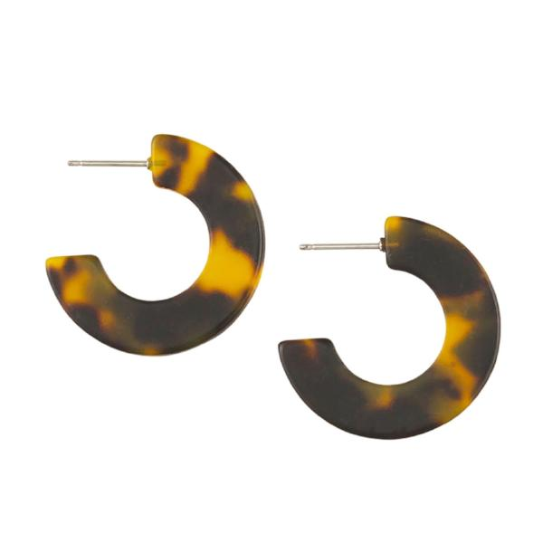 Tiger Tree | Earrings Tortoise Shell Flat Hoops | Shut the Front Door