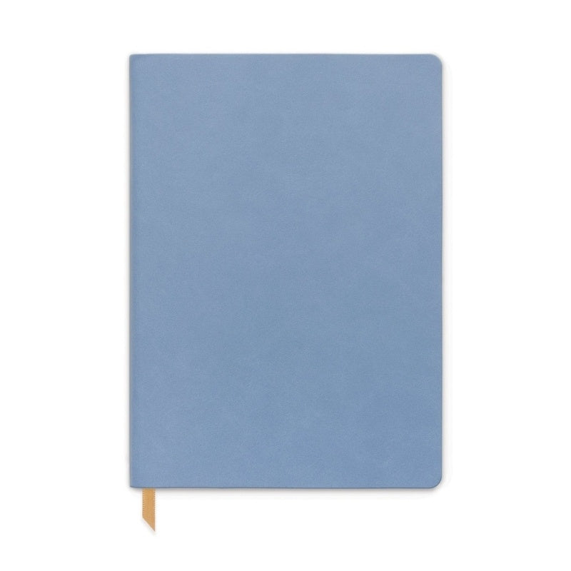 Designworks | Notebook Large Vegan Leather - Cornflower Blue | Shut the Front Door
