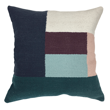 MADRAS | Infusion Teal/Plum Cushion 50cm | Shut the Front Door