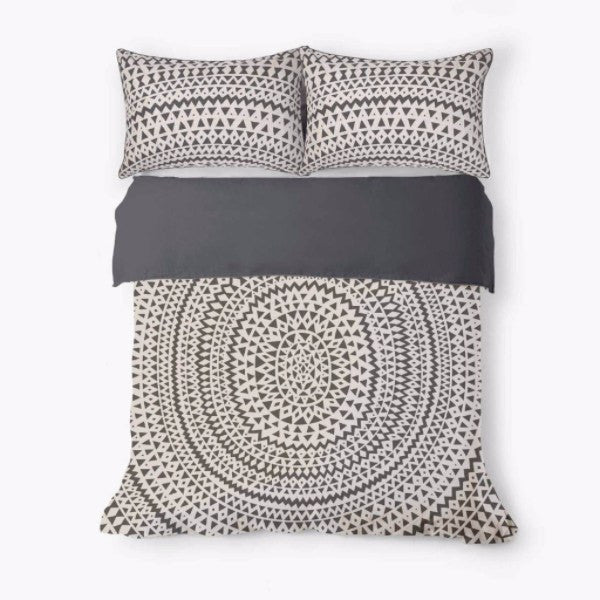 Aura | Duvet Cover Set Inca Steel Grey KING | Shut the Front Door