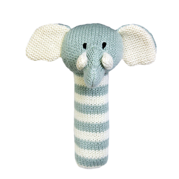 Lily and George | Charlie Stripey Elephant Stick Rattle | Shut the Front Door