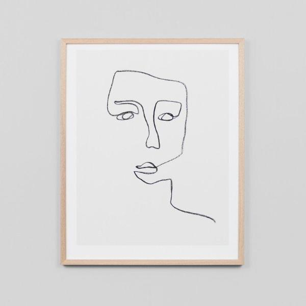 Middle of Nowhere | Framed Print Linear Portrait | Shut the Front Door