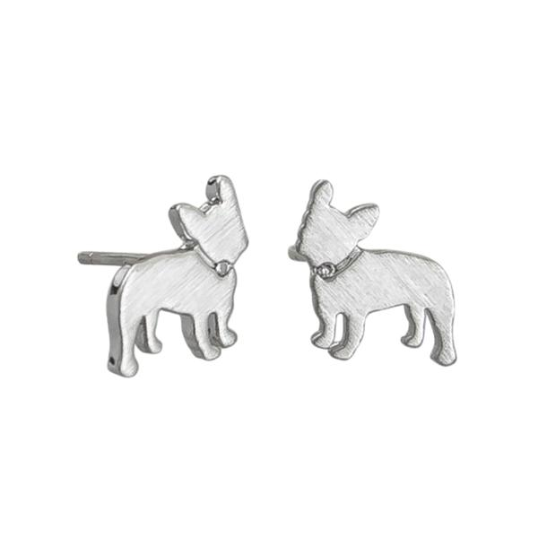 Tiger Tree | Earrings Silver Frenchie | Shut the Front Door