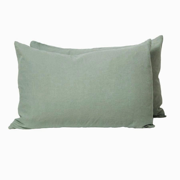 General Eclectic | Linen Pillowcases Set of 2 MOSS | Shut the Front Door