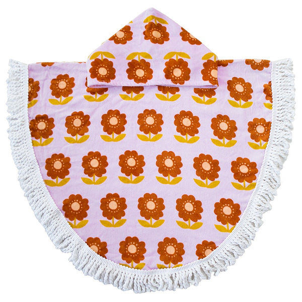 Bambury | Kid's Poncho Towel - Zinnia | Shut the Front Door