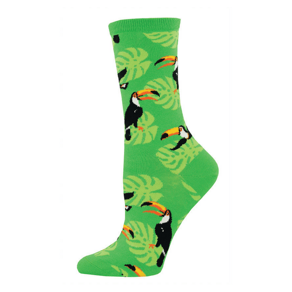 Socks Womens Toucan Play Bright Green