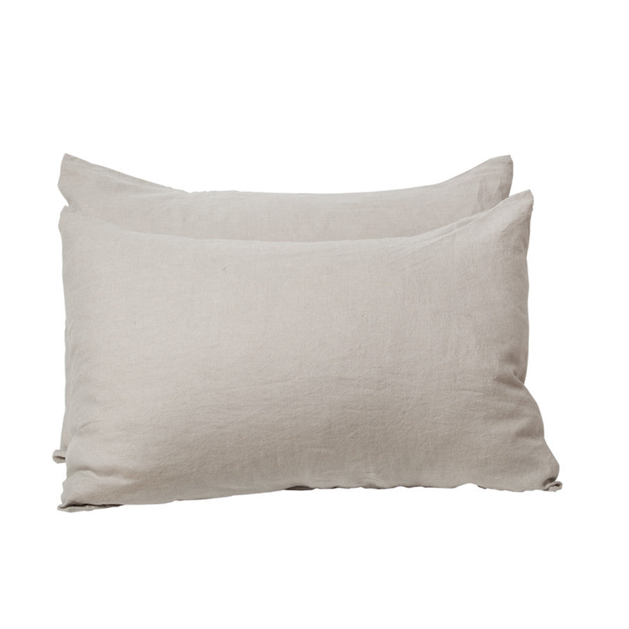General Eclectic | Linen Pillowcases Set of 2 - STONE | Shut the Front Door