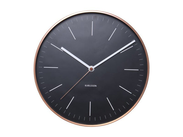 Karlsson | Wall Clock Minimal Black | Shut the Front Door