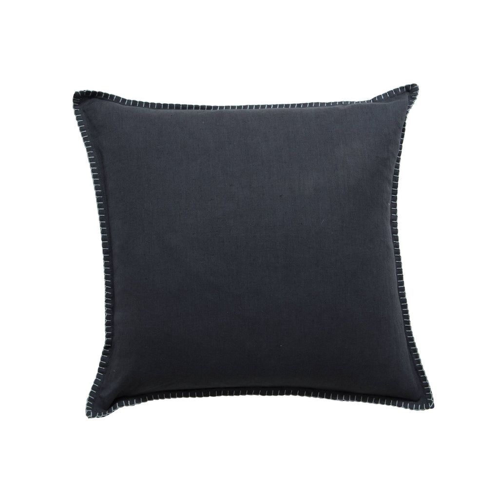 Milk & Sugar | Cushion Blanket Stitch CHARCOAL | Shut the Front Door