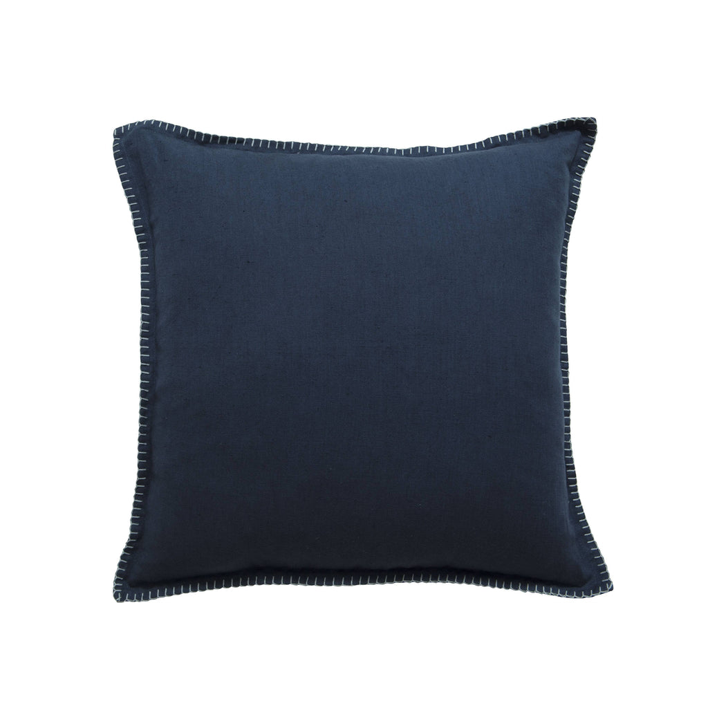 Milk & Sugar | Cushion Blanket Stitch NAVY | Shut the Front Door