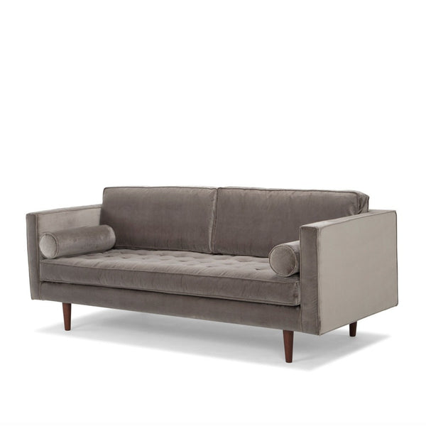 Me & My Trend | Bussi 3 Seat Velvet Sofa Light Grey *PREORDER* | Shut the Front Door