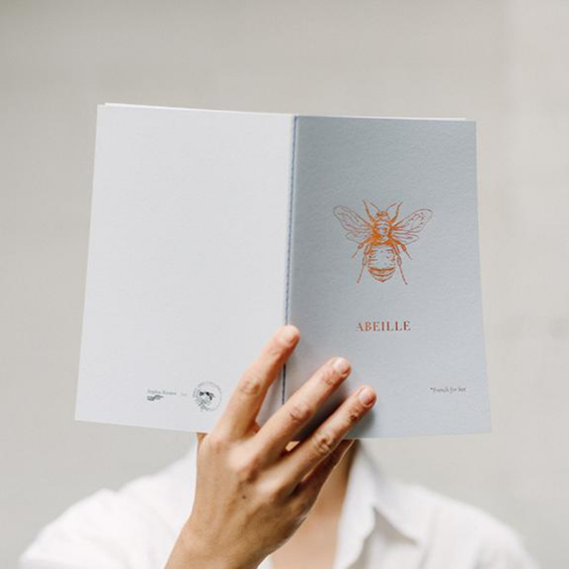 Miel des Collines | Foil Bee Notebook | Shut the Front Door