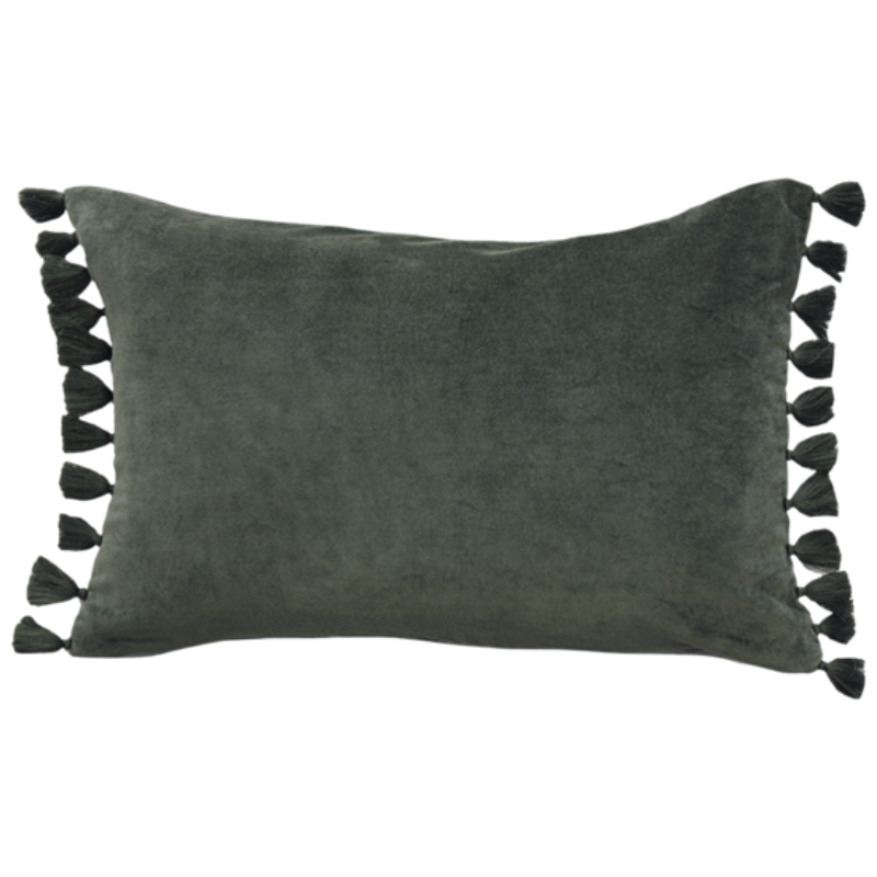 Mulberi | Este Velvet Cushion 35x53cm - Caper | Shut the Front Door