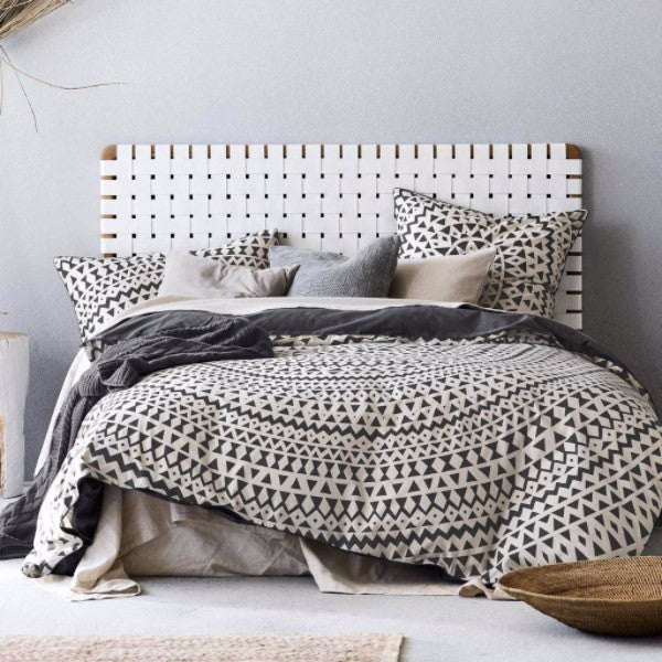 Aura | Duvet Cover Set Inca Steel Grey QUEEN | Shut the Front Door