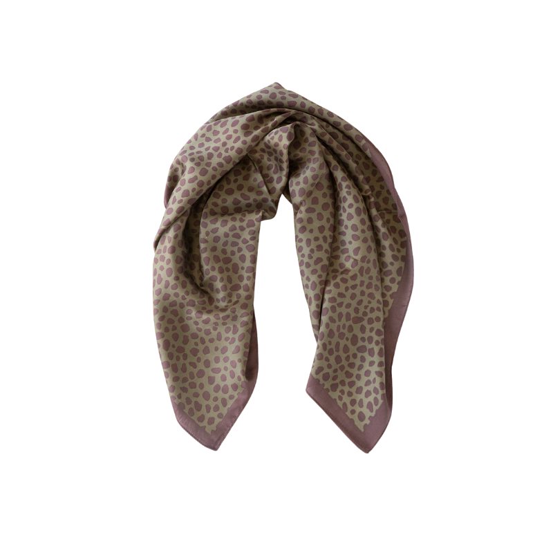 Antler NZ | Square Pebble Print Scarf - Khaki | Shut the Front Door