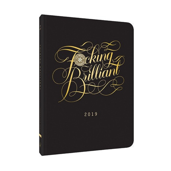 Chronicle Books | 2019 F*cking Brilliant 12-Month Planner | Shut the Front Door