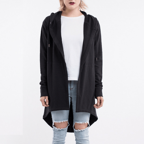 Elm Knitwear | Ashleigh Hooded Cardi BLACK | Shut the Front Door