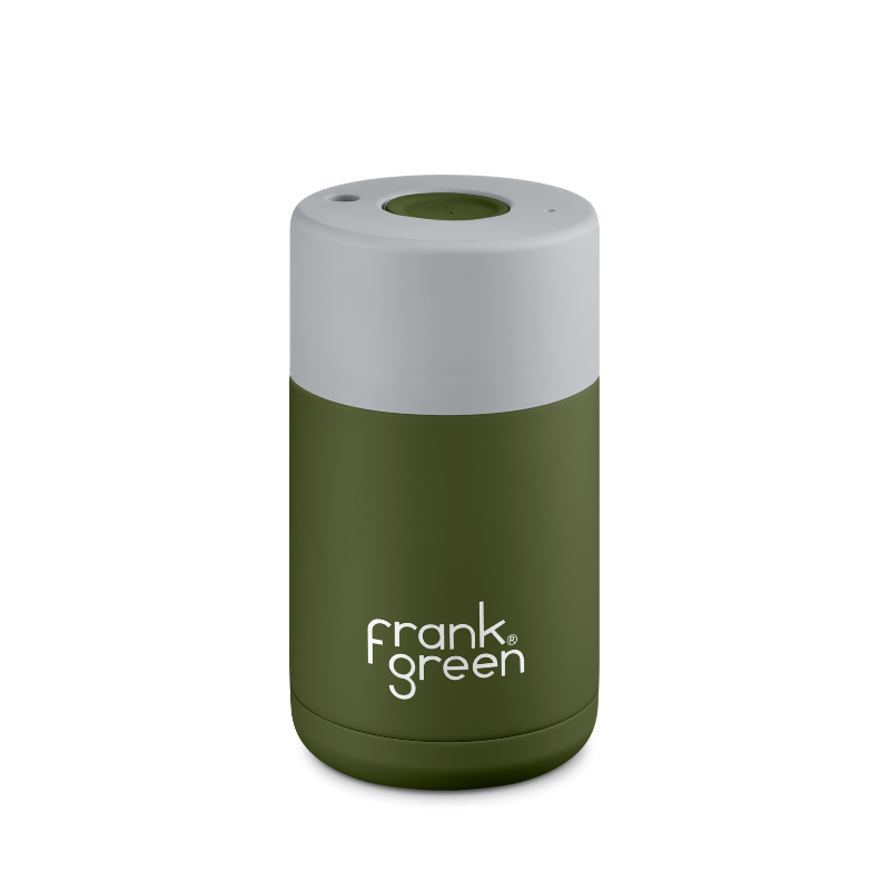 Frank Green | Ceramic Lined Reusable Cup 10oz - Khaki/Harbour Mist | Shut the Front Door