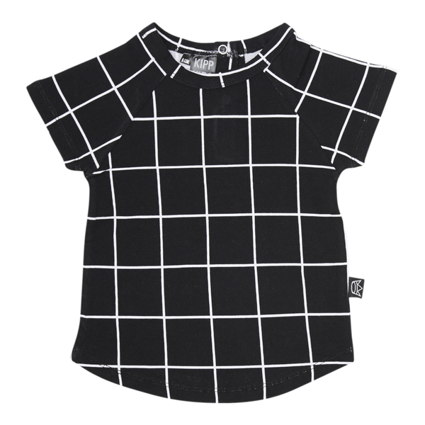 Kipp Kids | T-Shirt in Black Check | Shut the Front Door