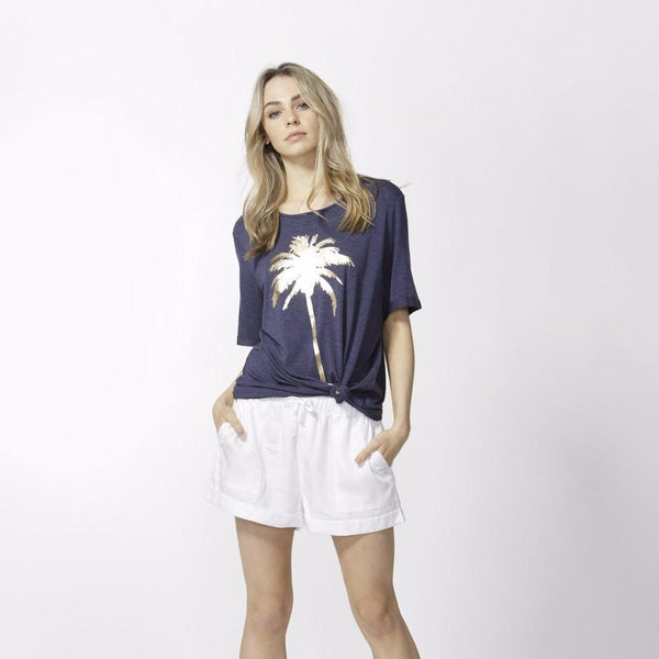 Betty Basics | Los Angeles Tee Indigo Marle | Shut the Front Door