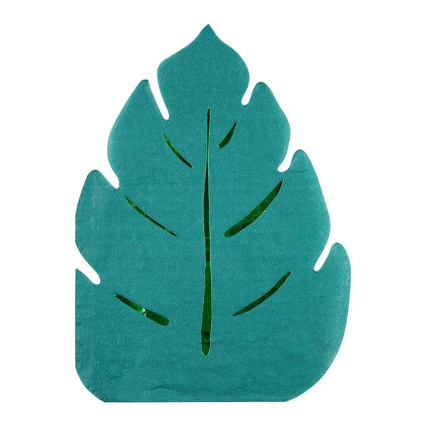 Meri Meri | Green Monstera Palm Leaf Napkin Large | Shut the Front Door