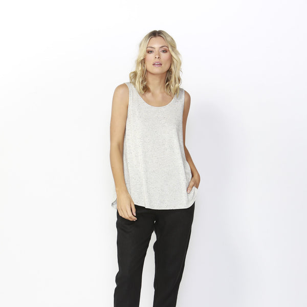 Betty Basics | Boston Tank Top Gold Fleck | Shut the Front Door