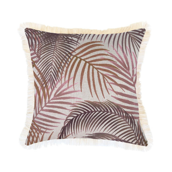 Escape to Paradise | Coastal Fringe 45x45cm Cushion - Seminyak Rose | Shut the Front Door