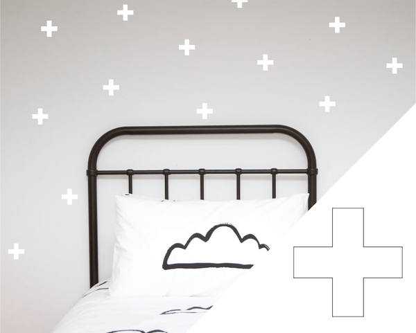 100PercentHeart | Wall Stickers Crosses Large White | Shut the Front Door