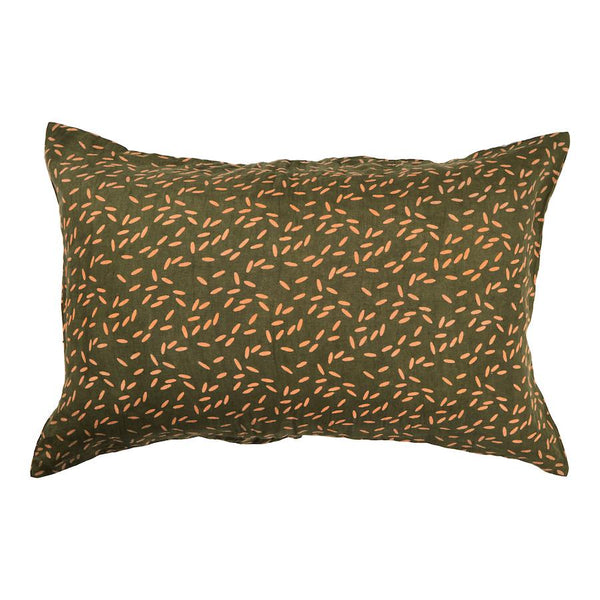 SAGE & CLARE | Kubu Linen Pillowcase Set - Moss | Shut the Front Door
