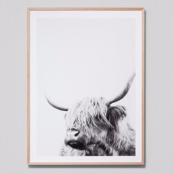 Middle of Nowhere | Framed Print Highland Friend Grey | Shut the Front Door