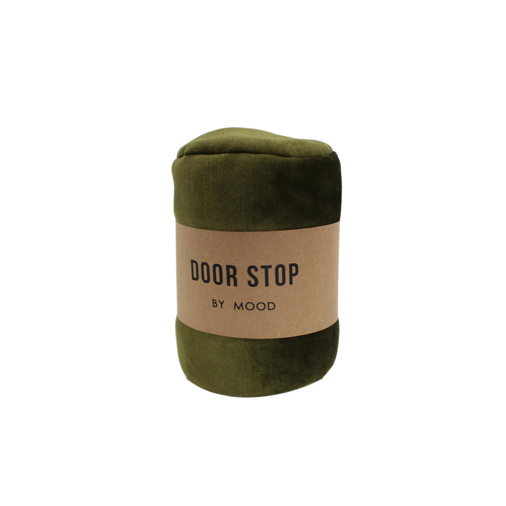 MOOD | Velvet Door Stop - Olive | Shut the Front Door