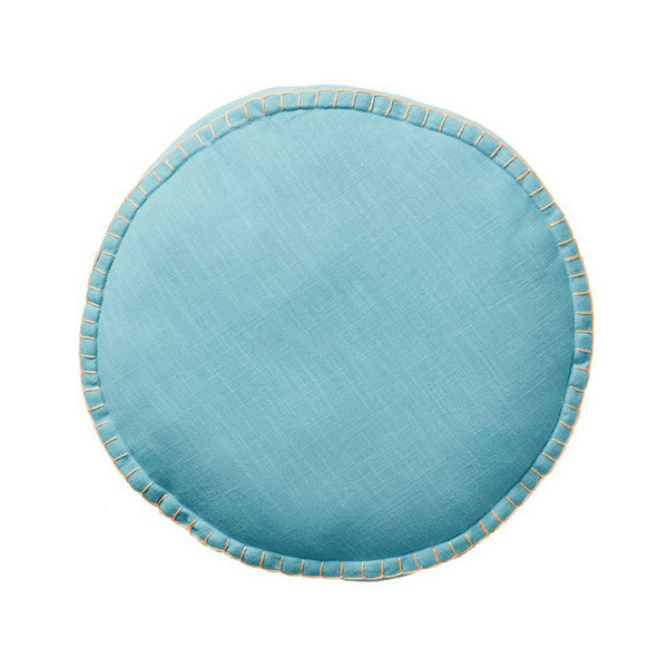 SAGE & CLARE | Rylie Round Cushion TURQUOISE | Shut the Front Door