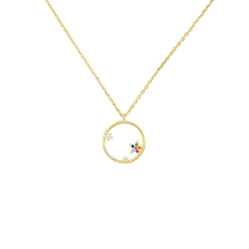 Tiger Tree | Necklace Circle of Stars - Gold | Shut the Front Door