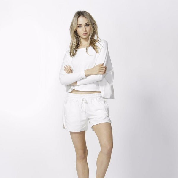 Betty Basics | Kendall Shorts Ivory | Shut the Front Door