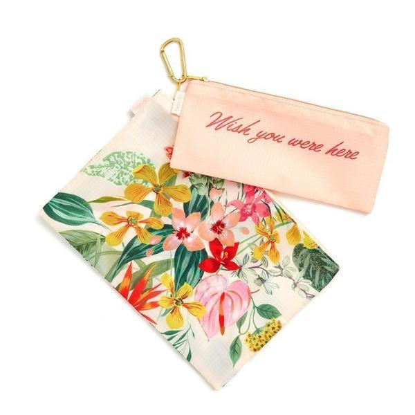 ban.do | Paradiso Carry All Travel Pouch Set | Shut the Front Door