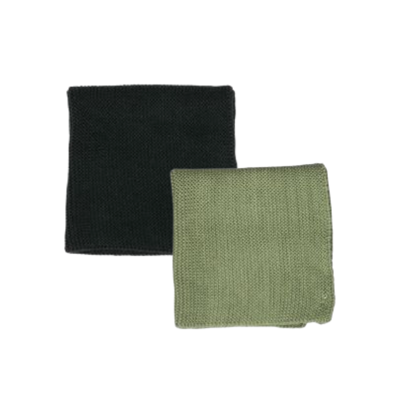 Albi | Milpa Cotton Dishcloth Set - Moss & Forest | Shut the Front Door