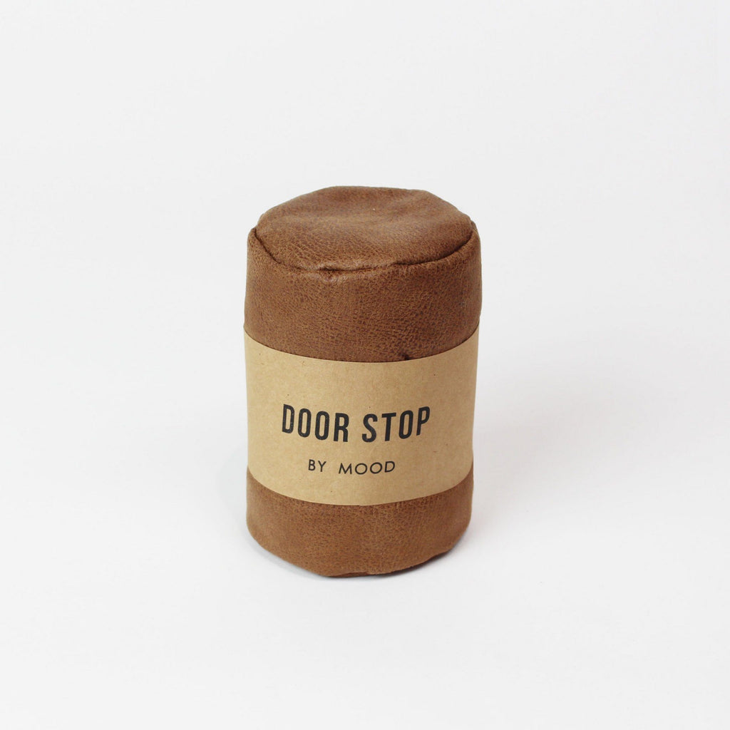 MOOD | Door Stop Leather Brown | Shut the Front Door