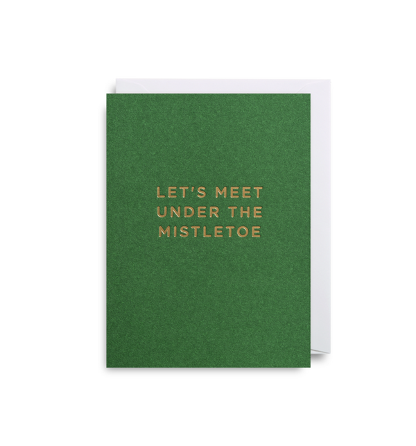Lagom | Christmas Card Mini - Let's Meet Under the Mistletoe | Shut the Front Door