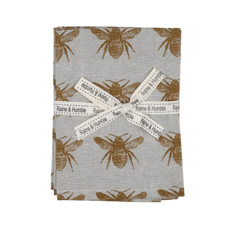 Raine & Humble | Abby Bee Napkin Set 4 - Mustard | Shut the Front Door