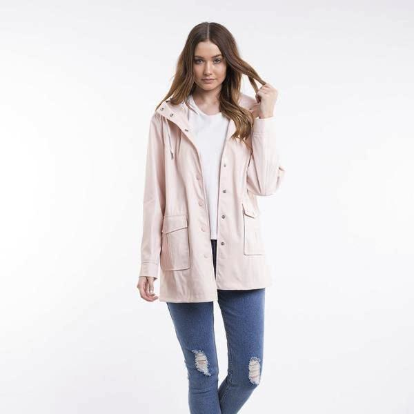 All About Eve | Mercury Rain Jacket Pink | Shut the Front Door